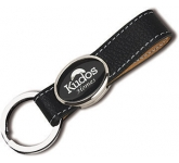 Elite HIde ColourBrite Leather Metal Keyring  by Gopromotional - we get your brand noticed!