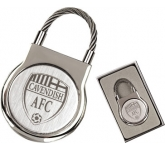 Elite Round Cable Metal Keyring