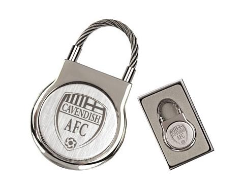 Elite Round Cable Metal Keyring