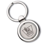 Round Madrid Spinning Metal Keyring