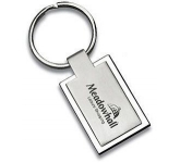Rectangular Geneva Metal Keyring