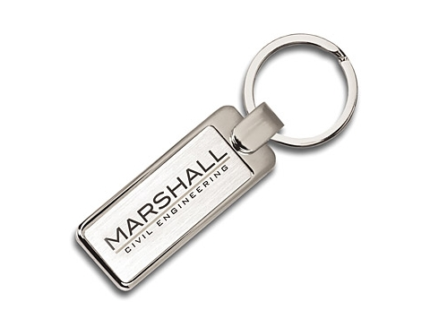 Elite Rectangular Metal Keyring