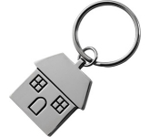 House Shaped Metal Keyring