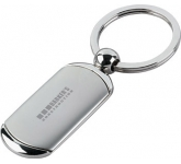 Dog Tag Metal Branded Keyring