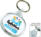 Deluxe Smart Fob Circular Plastic Keyring  by Gopromotional - we get your brand noticed!