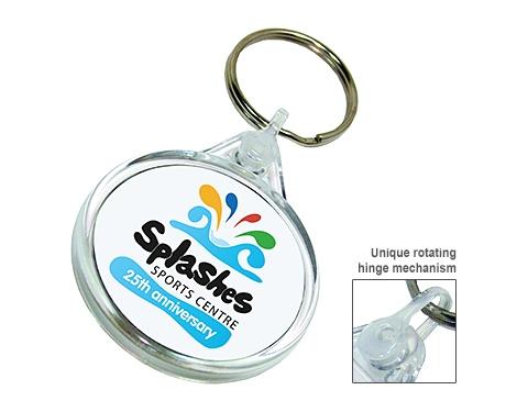 Deluxe Smart Fob Circular Plastic Keyring