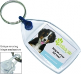 Deluxe Smart Fob Midi Plastic Keyring  by Gopromotional - we get your brand noticed!