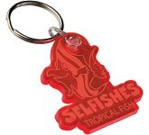 Bespoke Shaped Coloured Acrylic Keyring