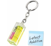 Spirit Level Keyring  by Gopromotional - we get your brand noticed!