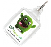 Classic Acrylic Plastic Keyring  by Gopromotional - we get your brand noticed!