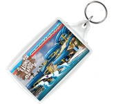 Goliath Rectangular Acrylic Plastic Keyring  by Gopromotional - we get your brand noticed!
