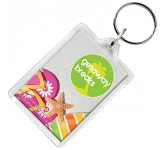 Rectangular Acrylic Plastic Keyring  by Gopromotional - we get your brand noticed!