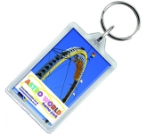Reopenable Acrylic Plastic Keyring  by Gopromotional - we get your brand noticed!