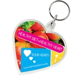 Heart Shaped Acrylic Plastic Keyring  by Gopromotional - we get your brand noticed!