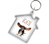House Shaped Acrylic Plastic Keyring  by Gopromotional - we get your brand noticed!