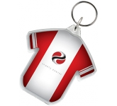 T-Shirt Shaped Acrylic Plastic Keyring  by Gopromotional - we get your brand noticed!
