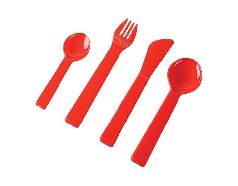 4 Piece Plastic Cutlery Set