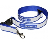 10mm Reflective Polyester Lanyard  by Gopromotional - we get your brand noticed!