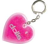 Heart Shaped Liquid Keyring