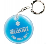 Round Shaped Liquid Keyring