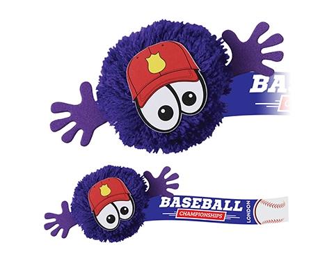 Baseball Mophead Character Logo Bug