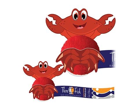 Card Head Crab Logo Bug
