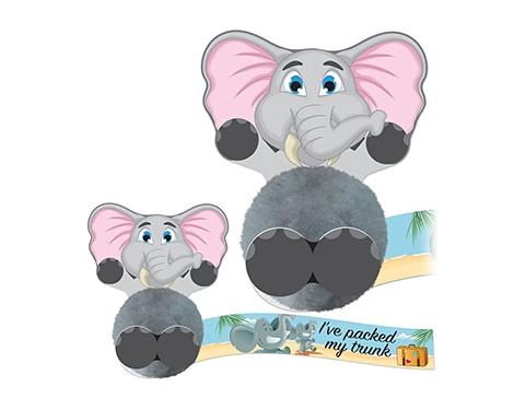 Card Head Elephant Logo Bug
