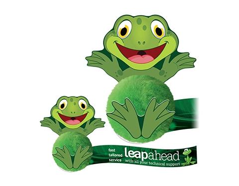 Card Head Frog Logo Bug