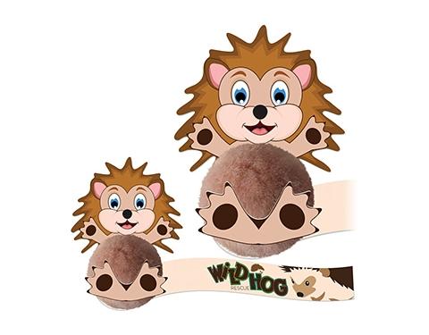 Card Head Hedgehog Logo Bug