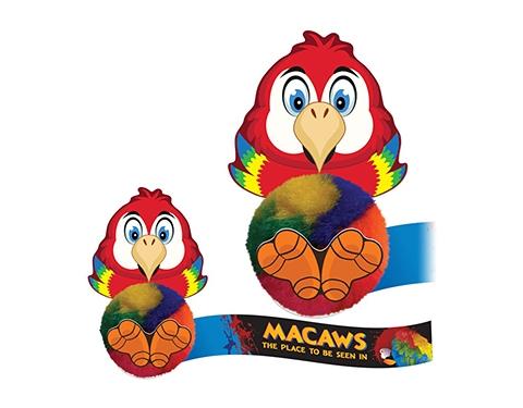 Card Head Parrot Logo Bug