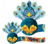 Card Head Peacock Logo Bug