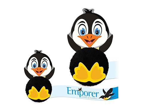 Card Head Penguin Logo Bug