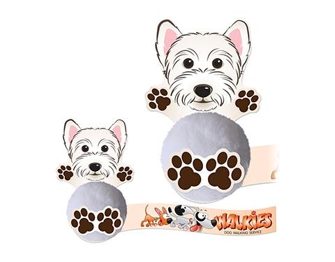 Card Head Scottie Dog Logo Bug
