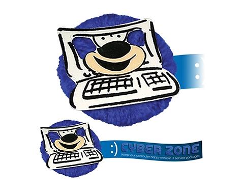 Computer Mophead Card Face Logo Bug