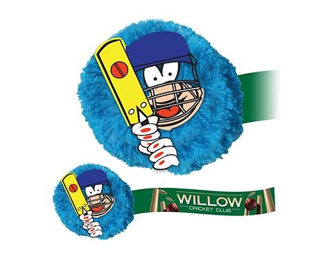 Cricket Mophead Card Face Logo Bug