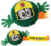 Fireman Mophead Character Logo Bug  by Gopromotional - we get your brand noticed!