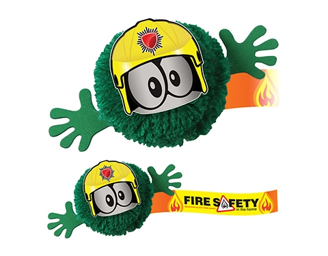 Fireman Mophead Character Logo Bug