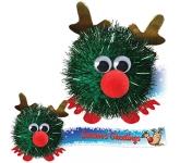 Glitter Reindeer Logo Bug
