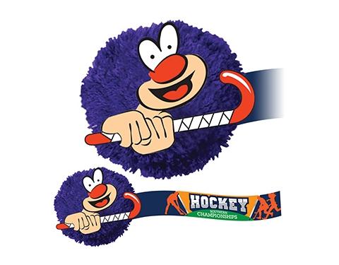 Hockey Mophead Card Face Logo Bug