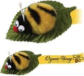 Leafy Bee Logo Bug