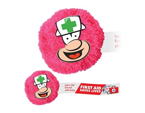 Nurse Mophead Card Face Logo Bug