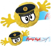 Pilot Mophead Character Logo Bug  by Gopromotional - we get your brand noticed!