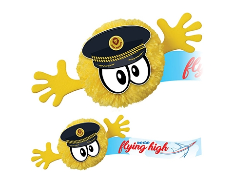 Pilot Mophead Character Logo Bug