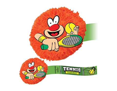 Tennis Mophead Card Face Logo Bug