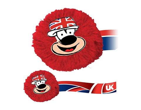 Union Jack Mophead Card Face Logo Bug