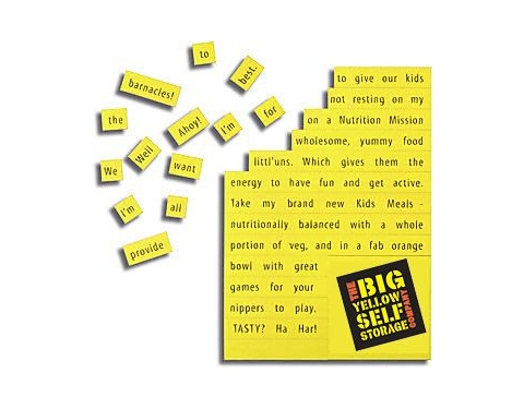 A6 Magnetic Word Game