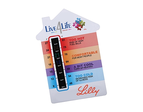 A5 House Shaped Temperature Gauge Card