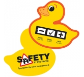 Duck Bath Water Temperature Gauge Card  by Gopromotional - we get your brand noticed!
