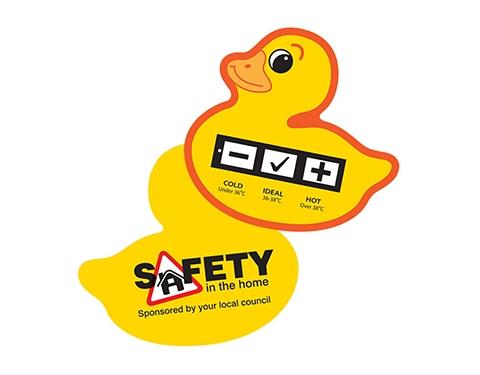 Duck Bath Water Temperature Gauge Card
