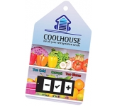 Internal Magnetic Fridge Temperature Gauge Card